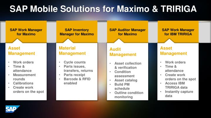 SAP Mobile Solutions for Maximo & TRIRIGA