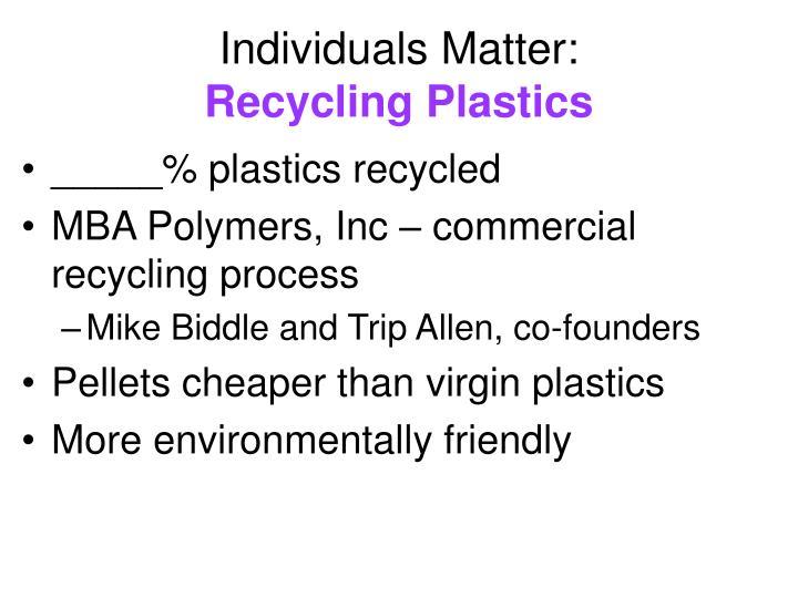 Individuals Matter: