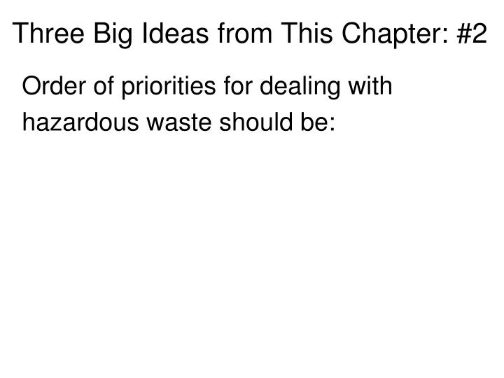 Three Big Ideas from This Chapter: #2