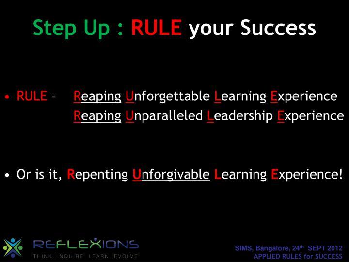 Step Up :