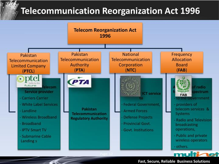 Telecommunication Reorganization Act 1996