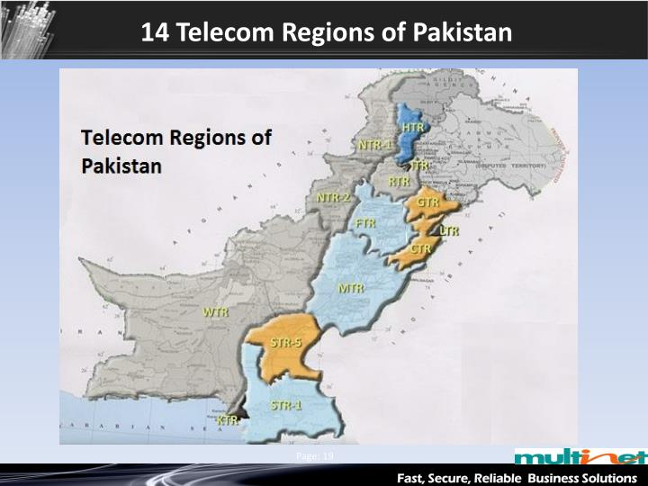 14 Telecom Regions of Pakistan