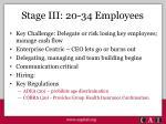stage iii 20 34 employees
