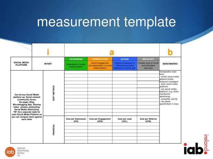 measurement template