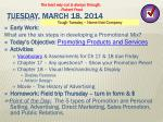 tuesday march 18 2014