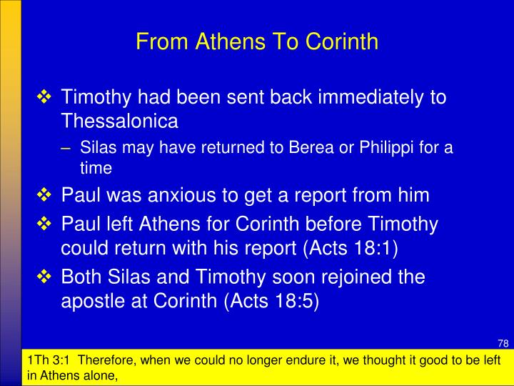From Athens To Corinth