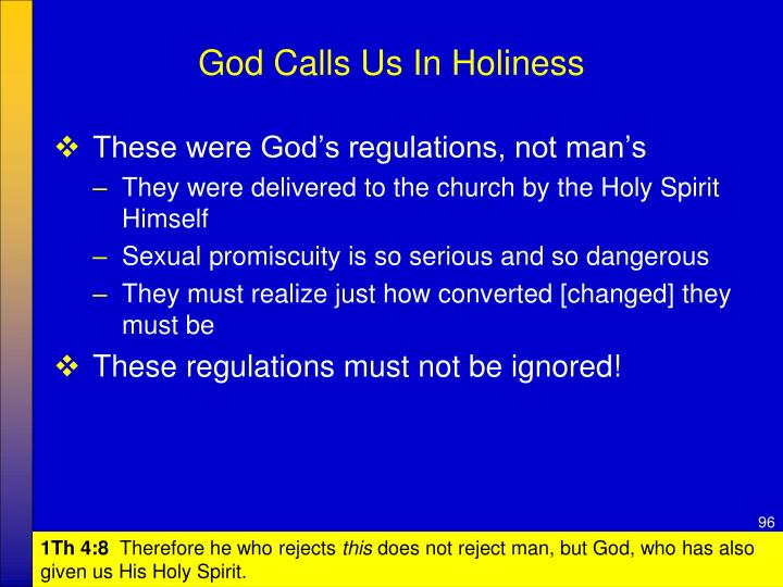 God Calls Us In Holiness