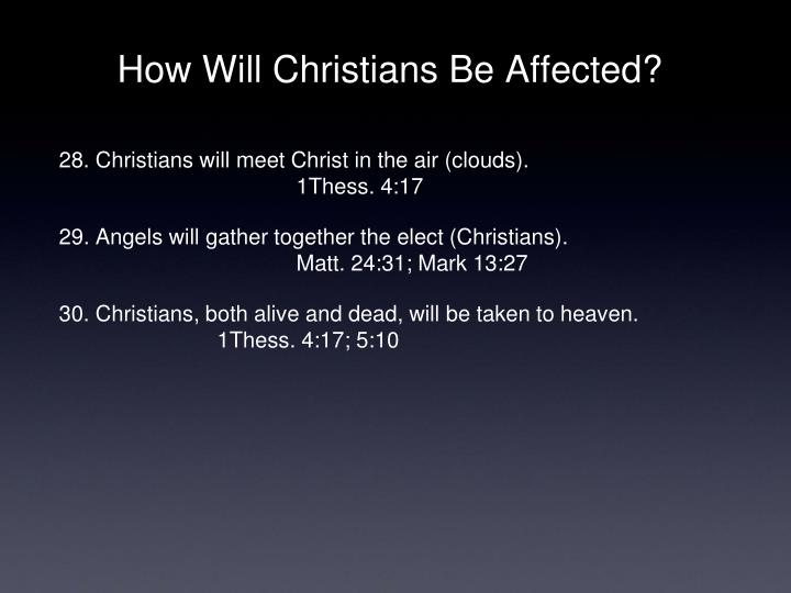 How Will Christians Be Affected?