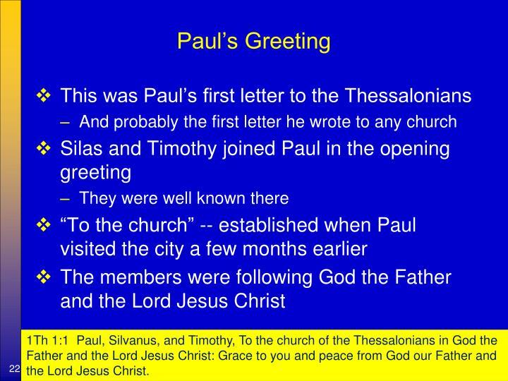 Paul's Greeting