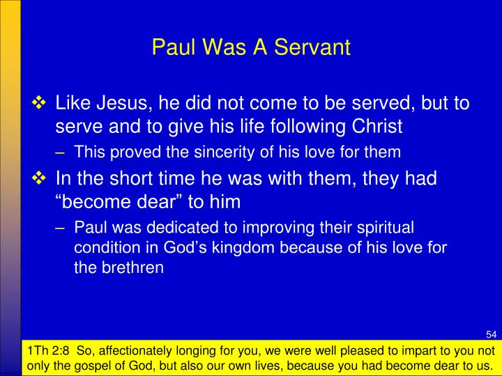 Paul Was A Servant