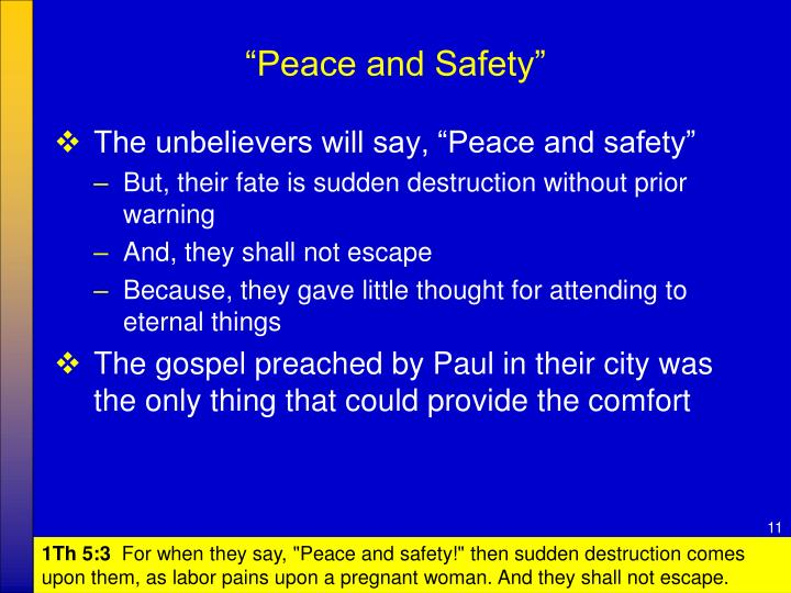 """""""Peace and Safety"""""""