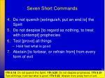seven short commands1