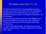 the history from acts 17 1 101