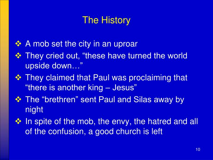 The History