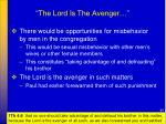 the lord is the avenger