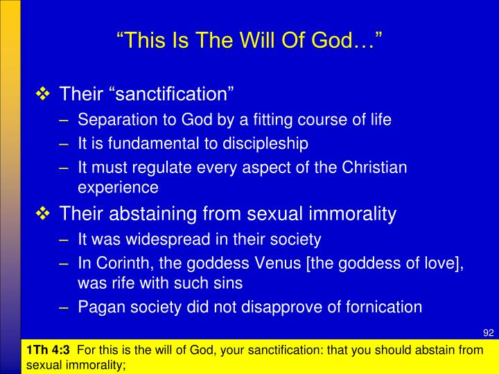 """""""This Is The Will Of God…"""""""
