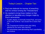 today s lesson chapter two