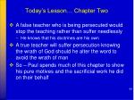 today s lesson chapter two1