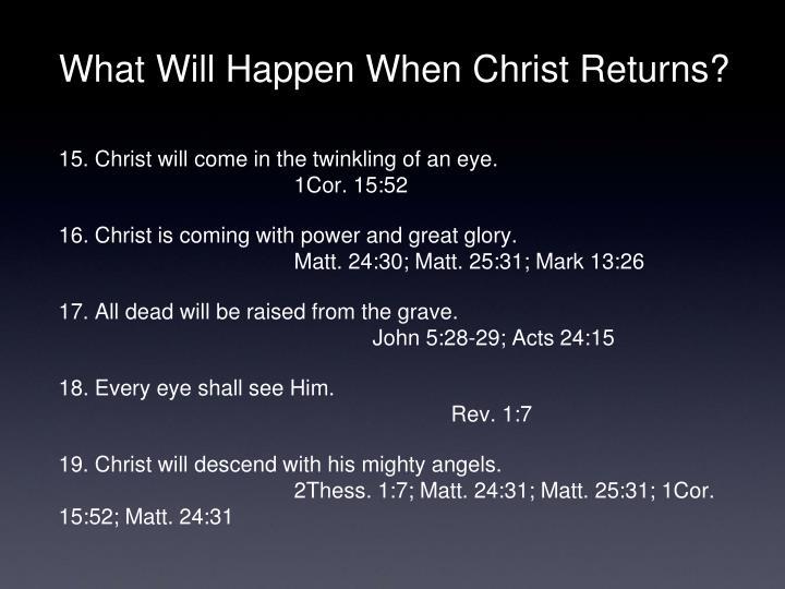What Will Happen When Christ Returns?