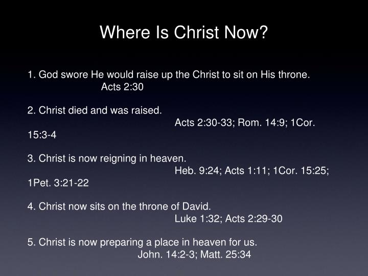 Where Is Christ Now?