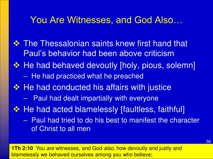 You Are Witnesses, and God Also…