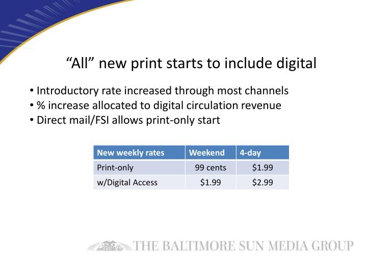 """""""All"""" new print starts to include digital"""