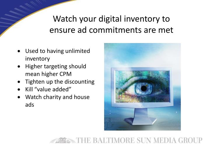 Watch your digital inventory to