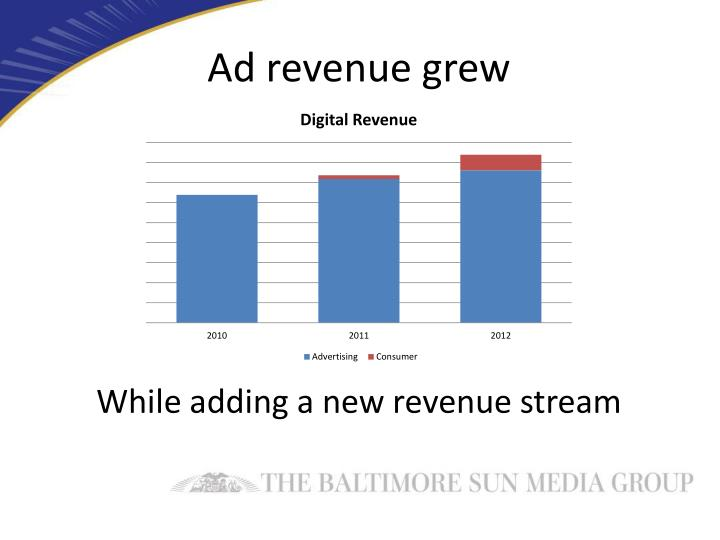 Ad revenue grew