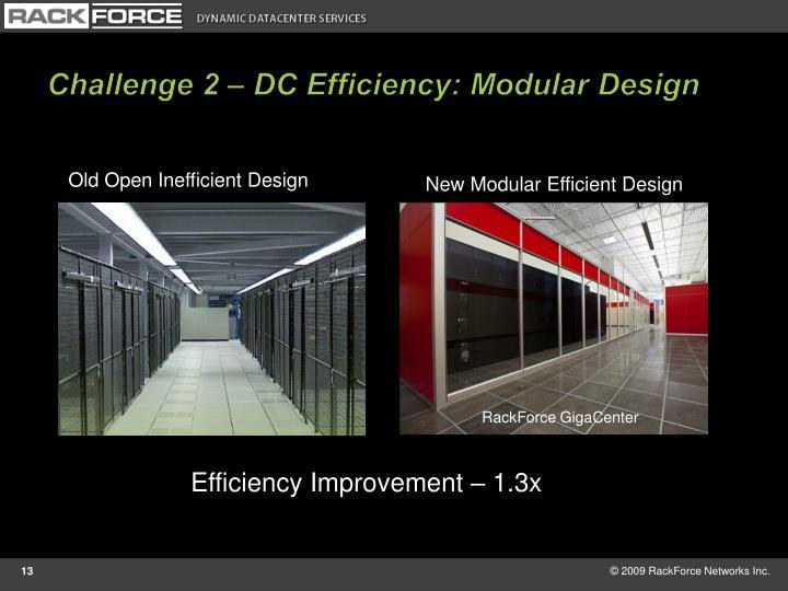 Challenge 2 – DC Efficiency: Modular Design
