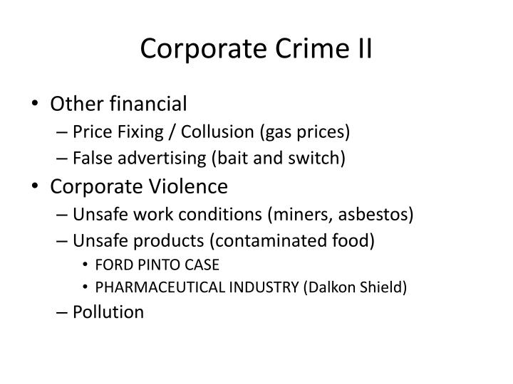 Corporate Crime II