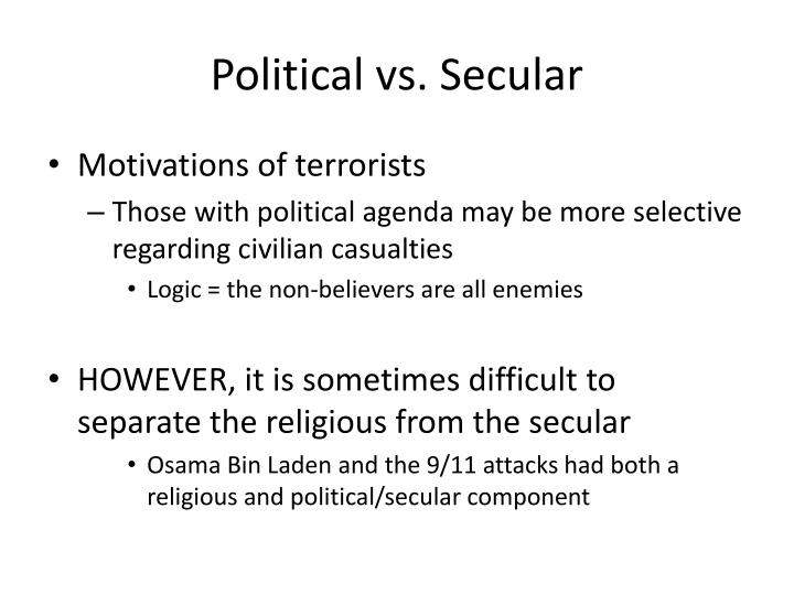 Political vs. Secular