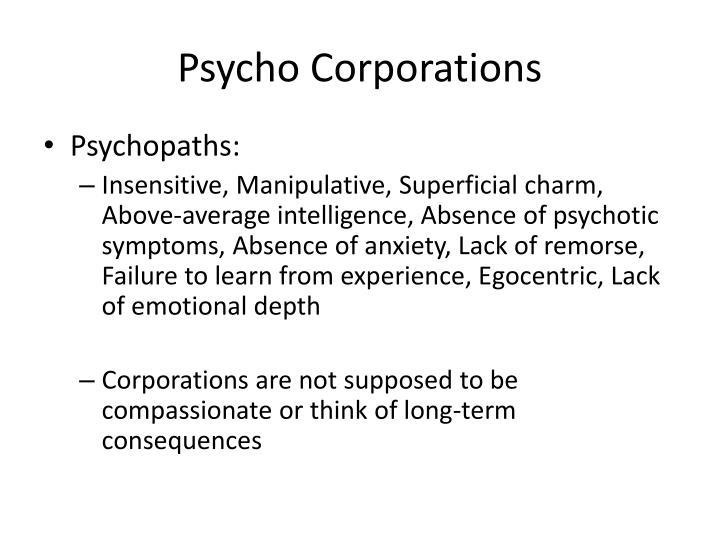 Psycho Corporations