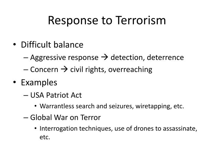 Response to Terrorism