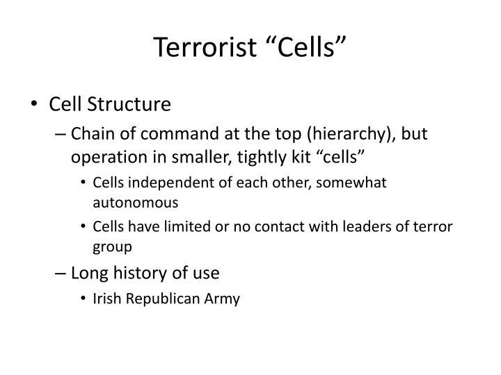 "Terrorist ""Cells"""