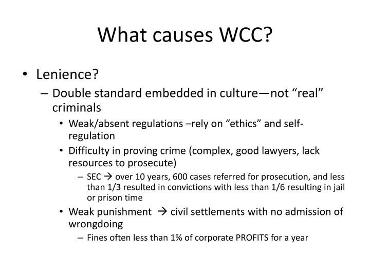What causes WCC?