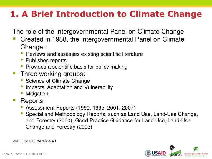 1. A Brief Introduction to Climate Change