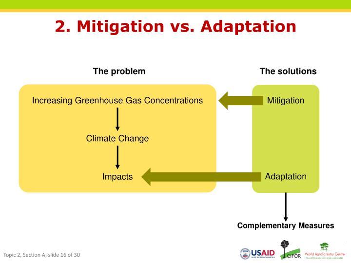 2. Mitigation vs. Adaptation