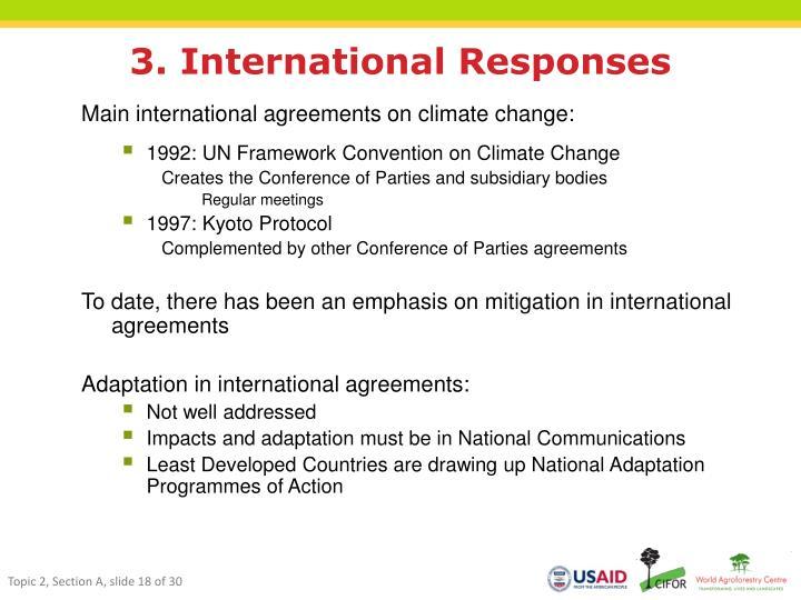 3. International Responses