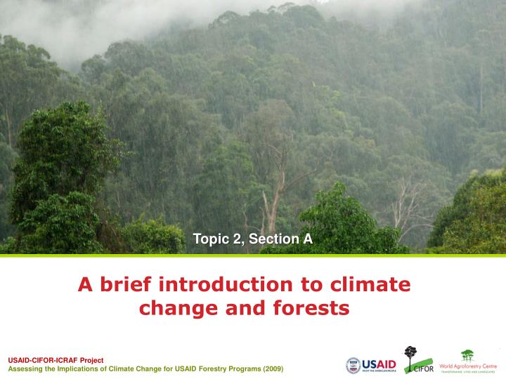 A brief introduction to climate change and forests