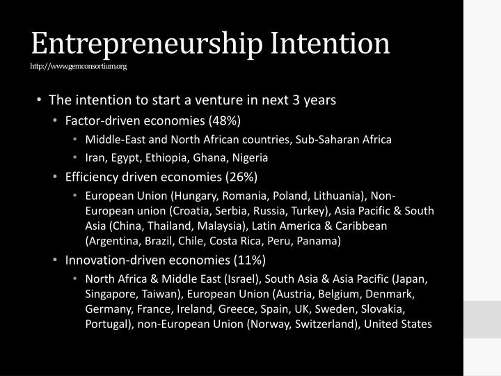 entrepreneur intention Entrepreneurial intentions among university students: a structural equation modeling analysis track: entrepreneurship and family businesses abstract.