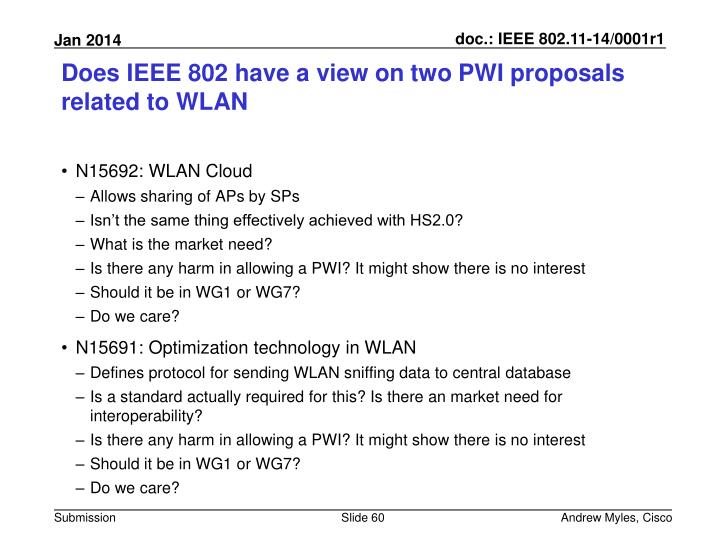Does IEEE 802 have a view on