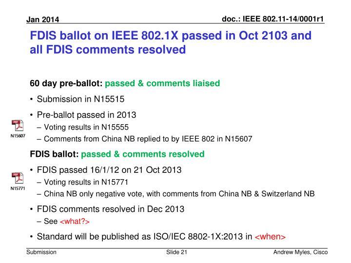 FDIS ballot on IEEE