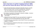 there has been no further meeting between ieee 802 and the swiss nb about tepa after aug 2013