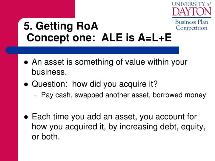 5. Getting RoA