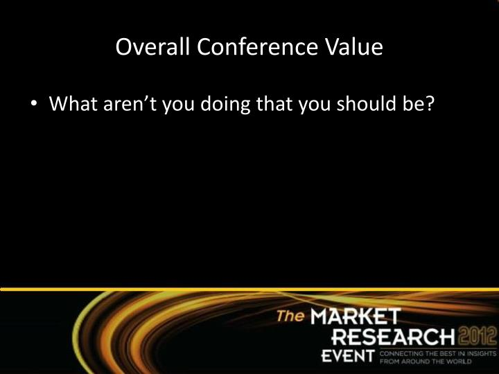 Overall Conference Value