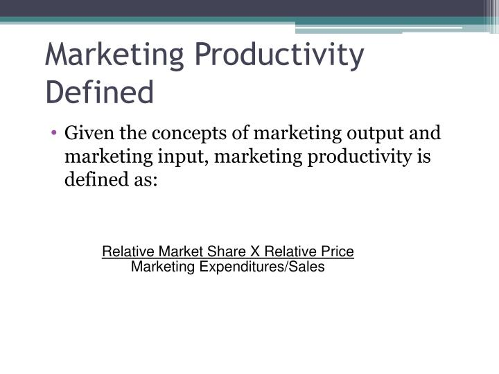 Marketing Productivity Defined
