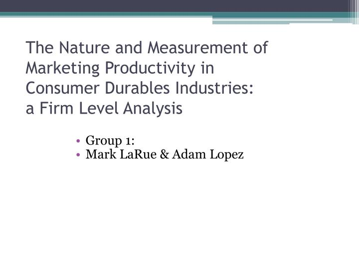 The Nature and Measurement of