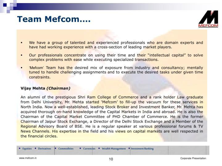 Team Mefcom….