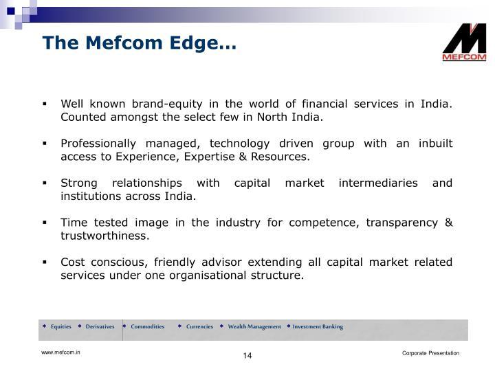 The Mefcom Edge…