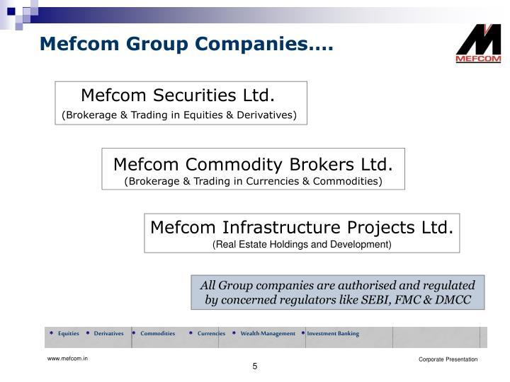 Mefcom Group Companies….